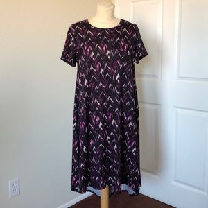 LulaRoe Knit Chevron Dress Size S